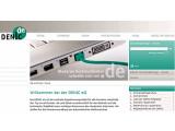 Bild: Herr über mehr als 13 Millionen de-Domains: die Homepage von Denic eG.