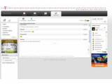 Bild: Der AOL Instant Messenger integriert sich direkt im E-Mail Center der Deutschen Telekom.
