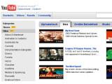 Bild: Filme und Serien: Auch auf der deutschen YouTube-Seite sind die neuen Angebote zu sehen. Abgespielt werden können sie derzeit aber nur in den USA.