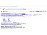 Bild: Suchergebnisse enthalten Titel, Beschreibung und Webadresse und lassen sich einzeln ansprechen.