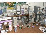 Bild: Privates Kopierstudio: Nach Angaben der GVU sieht so eine typische Raubkopierfabrik aus.
