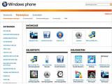 Bild: Windows Marketplace: Die deutschsprachige Seite des Software-Unternehmens bietet vergleichsweise wenig Programme an.