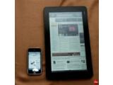 Bild: Aus CrunchPad wird JooJoo: Der flache Tablet-Computer ist ab sofort für 500 Dollar vorbestellbar. Die Bedienung erfolgt wie beim iPhone über einen kapazitiven Touchscreen.
