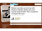 Bild: Eine Kurzmitteilung geht um die Welt. Der Tweet von Paul Jozefak enthüllt, was Microsoft-Chef Steve Ballmer angeblich über Windows Mobile gesagt hat.
