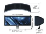 Bild: Der Breitbildmonitor CRV43 von NEC verfügt nicht nur über eine beeindruckende Bilddiagonale von 109 Zentimetern, sondern auch eine Tiefe von 36,8 Zentimetern, die ein Rückfall in die Zeit der Röhrenmonitore sind.