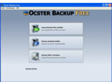 Bild: Das Hauptmenü von Ocster Backup Free. Von hier starten alle Aktionen.