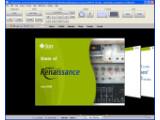 Bild: Die Oberfläche des neuen Prototyp vom Projekt Renaissance erinnert stark an de Ribbon-Bedienung von Microsoft und CoverFlow von Apple.(Klick vergrößert)