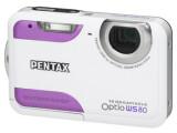 Bild: Pentax Optio WS80: Die wasserdichte Digitalkamera gibt es in den Farbvarianten Weiß-Schwarz, Schwarz-Orange, Gelb-Grün und Weiß-Pink.(Klick vergrößert)
