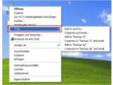 Bild: Das Markieren einer Datei oder eines Ordners per Rechtsklick gibt Zugriff auf den 7-Zip-Eintrag.