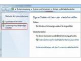 Bild: Nach einem Klick auf die umrandete Schaltfläche erstellt Windows den Rettungsdatenträger nach einem weiteren Klick im Folgefenster.