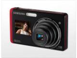 Bild: Samsung ST500 und ST550: Ein zusätzlicher Frontbildschirm erleichtert die Aufnahme von Selbstporträts.
