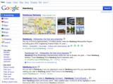 """Bild: Neues Google-Design: Die Seitenleiste bietet Zugriff die so genannten """"Modi"""" - dazu zählen beispielsweise die Kategorien """"Videos"""" und """"Blogs""""."""