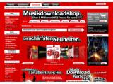 Bild: Startseite zum Media Markt Musikportal