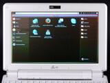 Bild: Ubuntu Netbook Remix: Benutzeroberflächen von Linux-Netbooks sind meist besser an die kleinen Bildschirme angepasst.