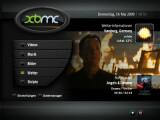 Bild: Der Startbildschirm des XBMC Media Center vereint sämtliche Informationen zum laufenden Video.