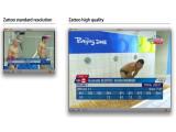 Bild: Größenvergleich: Die Auflösung der High-Quality-Kanäle ist rund viermal so hoch wie bisher (verkleinerte Darstellung).