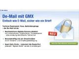 Bild: Ab sofort können sich Kunden von GMX und Web.de vorab für den neuen De-Mail-Dienst anmelden.