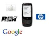 Bild: Apple, RIM und Google waren auch an einer Übernahme des Smartphone-Herstellers Palm interessiert. (Montage: Netzwelt)