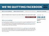"""Bild: Aufruf, Facebook zu verlassen: der """"Quit Facebook Day"""". Bild: Screenshot"""