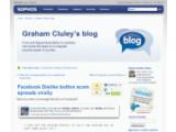 """Bild: In einem Blog-Eintrag warnt Sophos vor der Installation des """"Dislike""""-Buttons. Bild: Screenshot"""