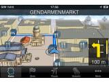 Bild: Bosch Navigation: Die 3D artMap stellt markante Gebäude hervorgehoben dar.