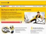 Bild: Briefe übers Internet sicher verschicken: Die Deutsche Post hat ihr Angebot E-Brief gestartet. Bild: Screenshot