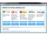 Bild: Microsofts Auswahlmechanismus: Mit diesem Update sollen Anwender in Zukunft selbst entscheiden dürfen welchen Browser sie nutzen möchten