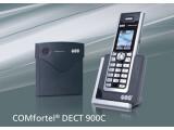 Bild: Das Comfortel Dect 900C von Auerswald ist ein schnurloses ISDN-Telefon, das durch niedrigen Stromverbrauch und reduzierte Strahlenbelastung punkten will.