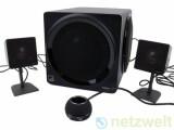 """Bild: Zum Preis von rund 150 Euro bietet Creative das 2.1-Lautsprecherset """"Gigaworks T3"""" an."""