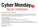 Bild: Cyber Monday: Am 29. November bietet Amazon.de 30 Artikel an, die bis zu 80% im Preis reduziert sind.