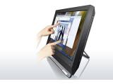 Bild: Der erste Business All-in-One-Desktop im 23-Zoll-Format: Lenovos M90z bringt das Touchscreen-Feeling ins Büro.