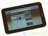 Bild: Gerüchten zufolge wird Samsungs Galaxy Tab schon bald mit Super-AMOLED Display erscheinen.
