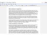 Bild: Google Docs: Die Oberfläche ist schlicht gehalten - wie bei den meisten Google-Services.