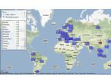 Bild: Google verzeichnet die Staatsanfragen übersichtlich per Kartenanzeige auf einer Google Maps-Seite. Bild: Screenshot