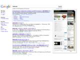 Bild: Google zeigt nun Vorschaubilder der gefundenen Webseiten an.