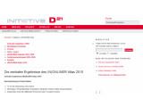 Bild: Die Initiative D21 veröffentlicht jährlich den (N)Onliner-Atlas mit Statistiken zur Internetnutzung in Deutschland. Bild: Screenshot