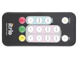 Bild: Klein, handlich und äußerst praktisch: die Fernbedienung. Drückt man die Info-Taste, zeigt der Empfänger Informationen über ein- und ausgehende Signale oder die Signalqualität an.