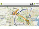 """Bild: Mit der kostenpflichtigen App """"GPS Spy"""" können die Daten des Trojaners ausgelesen werden."""