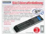 Bild: Lidl bietet ab heute eine Universalfernbedienung der Eigenmarke Silvercrest für 9,99 Euro an. Bild: Screenshot