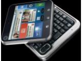 Bild: Das Motorola FlipOut ist ein quadratisches Schiebe-Handy, das das auf Android 2.1 basierende Betriebssystem Motoblur enthalten soll.