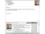 Bild: Neu in Outlook 2010: Der Social Connector bindet Statusmeldungen und Nachrichten aus sozialen Netzwerken mit ein.