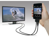 Bild: Der neue Adapter von Scosche verbindet das iPhone mit externen Monitoren oder TV-Geräten zum Abspielen von Videos. Bild: Scosche