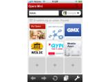 Bild: Opera mini auf dem iPhone: Mehrere Seiten auf einen Blick.