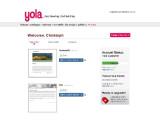 Bild: Übersicht aller angelegten Projekte in yola