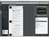 Bild: Der Seesmic Desktop 2 bringt die wichtigsten sozialen Netzwerke unter einer Oberfläche zusammen.