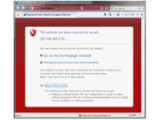Bild: Der Smartscreen-Filter blockt unsichere Webseiten.