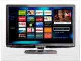 Bild: TV-Hersteller wie Philips locken mit Internet-Applikationen auf dem Fernseher. Noch in dieser Woche könnte Google, Intel und Sony eine Set-Top-Box fürs Web-TV ankündigen. Bild: Philips