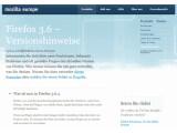 Bild: Unterbrechungsfreies Surfen: Mozilla 3.6.4 soll Abstürze beim Ausführen von Plugins beheben. Bild: Screenshot