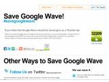 Bild: Unterstützer gesucht: Eine Initiative kämpft für den Erhalt von Google WaveBild: Screenshot