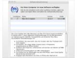 Bild: Das Update für Snow Leopard wird über die Softwareaktualisierung bereitgestellt  Bild: Screenshot